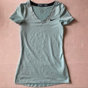 Nike Pro Vneck Fitted Sport Top